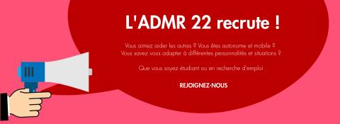 L'ADMR 22 recrute pour ses services d'aide à domicile